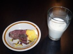yakiimo with milk