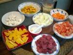 ingredients cut