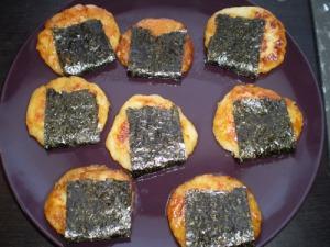 Wrap with a sheet of sushi-nori