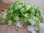 slice the spring onions